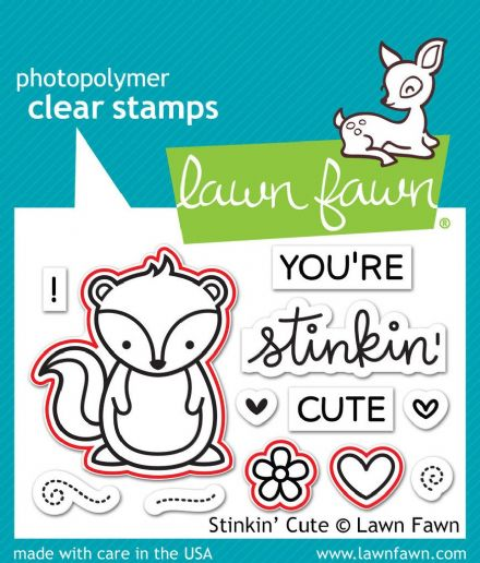 LF1022 S ~ STINKIN' CUTE ~ STAMP BY LAWN FAWN